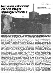 Nucleaire vakidioten en een integer stralingscontroleur - De ...