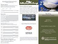 27th Annual Florida Hospital Tampa Golf Classic