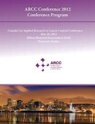 ARCC Conference 2012 Conference Program - CC-ARCC