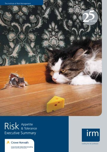 Executive Summary - The Institute of Risk Management