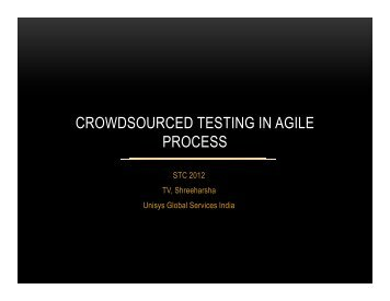 CROWDSOURCED TESTING IN AGILE PROCESS - QAI