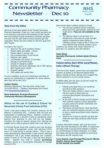 Community Pharmacy Newsletter - Dec 10