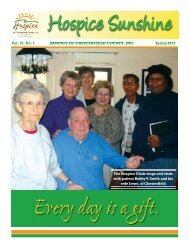 Spring Newsletter - Hospice of Chesterfield County