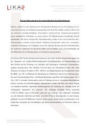 Private Enforcement in der österreichischen Kartellrechtspraxis ...