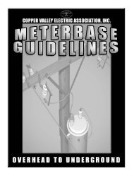 Overhead to Underground Service Guide - Copper Valley Electric ...