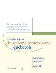 plan d'action - Office des professions du Québec