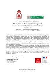 Cahier changement climatique- climat du changement - Mission d ...