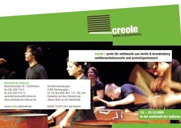 Programmheft (PDF 1.2 MB) - Creole
