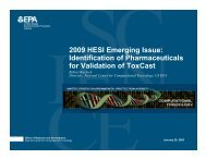 2009 HESI Emerging Issue: Identification of Pharmaceuticals for ...