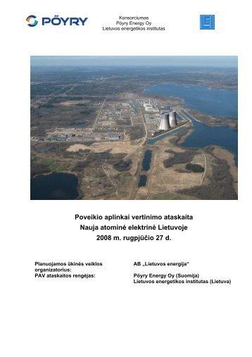 Poveikio aplinkai vertinimo ataskaita Nauja atominė elektrinė ...