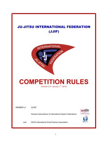 JJIF Competition Rules - United States Ju-Jitsu Federation