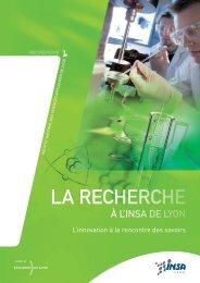 La recherche - INSA de Lyon