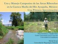 Uso y manejo campesino de las áreas ribereñas en la cuenca ...