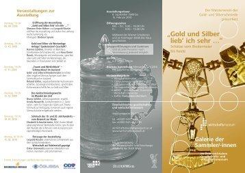 """""""Gold und Silber lieb' ich sehr …"""" - und Wirtschaftsmuseum"""