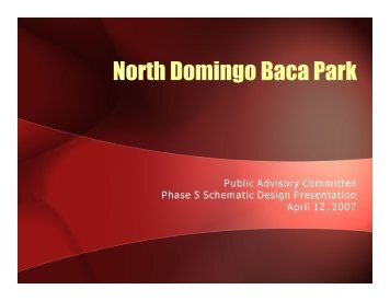 North Domingo Baca Park