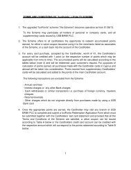 """1 TERMS AND CONDITIONS OF """"funPoints"""" LOYALTY ... - USB Bank"""
