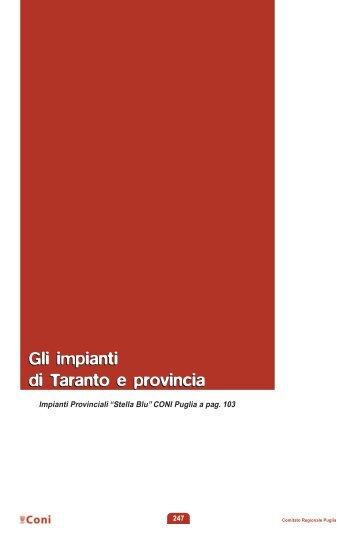 Gli impianti di Taranto e provincia Gli impianti di ... - Coni Puglia
