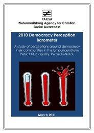 DEMOCRACY PERCEPTION REPORT 2010