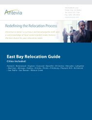 Relocation Guide - Contra Costa County Cities - Antevia