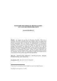 Gérard Kébabdjian - Region et Developpement