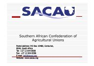 Southern African Confederation of Agricultural Unions - CSA