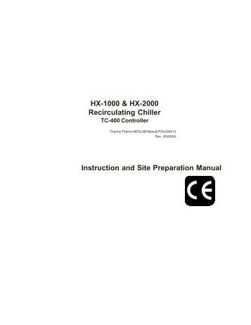 hx series chiller service manual general service chiller city rh yumpu com