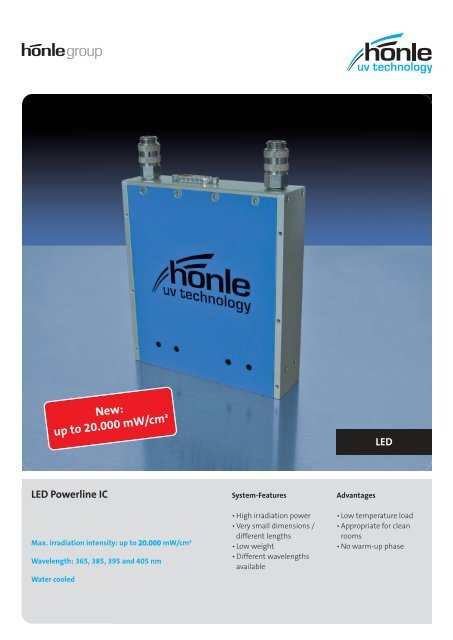 Product information LED Powerline IC - Dr. Hönle AG