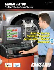5384T - Hunter PA100 ProAlign® Wheel Alignment System