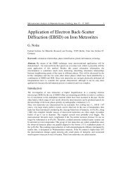 Application of Electron Back-Scatter Diffraction (EBSD) on Iron ...