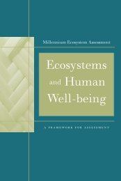 Ecosystems and Human Well-being - Basque Ecodesign Center