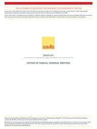 Savills plc NOTICE OF ANNUAL GENERAL MEETING