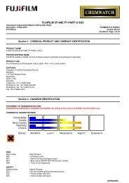 Chemwatch Australian MSDS 3826981 - FUJIFILM Australia