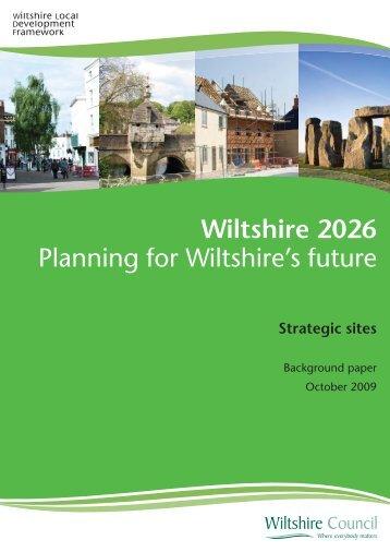 Strategic site allocations COVER.ai - Wiltshire Council