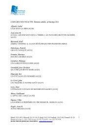 2011 ete romans adultes.pdf - Versoix