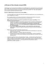 L'EE dans le Plan d'études romand (PER)