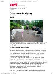 Documenta-Rundgang - Jan Frontzek Kulturmanagement