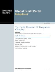 The Credit Dynamics Of Congestion Charging