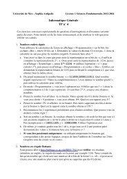 Informatique Générale TP n° 4