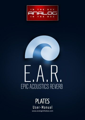 E.A.R. Plates - Manual - Analog In The Box