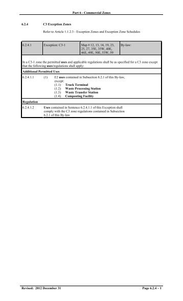 C3 Exception Zones - City of Mississauga