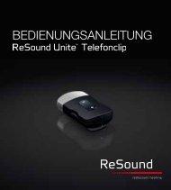ReSound Unite Telefonclip - Bedienungsanleitung (Zuletzt ...