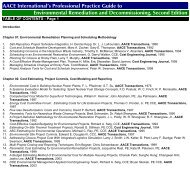 View Table of Contents - AACE International