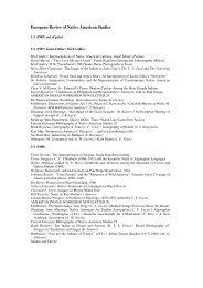 European Review of Native American Studies - American Indian ...