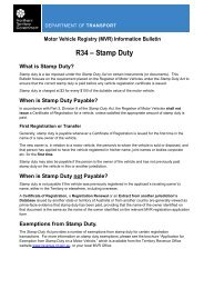 Information Bulletin R34 - Stamp Duty - Department of Transport