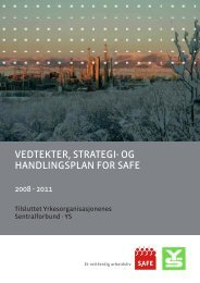 VEDTEKTER, STRATEGI- OG HANDLINGSPLAN FOR SAFE