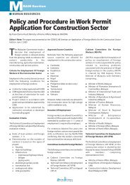 Policy and Procedure in Work Permit Application for Construction ...