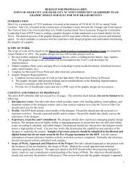 1 REQUEST FOR PROPOSALS (RFP) TOWN OF SILER CITY AND ...