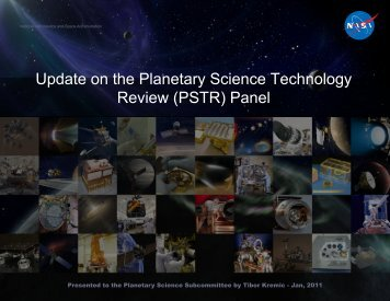 Update on the Planetary Science Technology Review (PSTR)