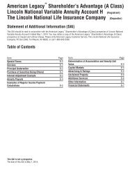 Notes to Consolidated Financial Statements (continued) - Lincoln ...