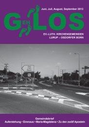 GehLos - Ausgabe Juni 2013 - Lurob.de